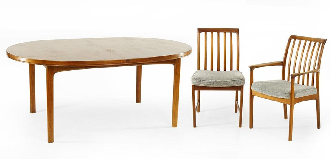 A Danish Modern Dining Suite.