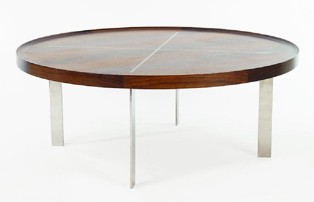 A Danish Teak And Chrome Cocktail Table.