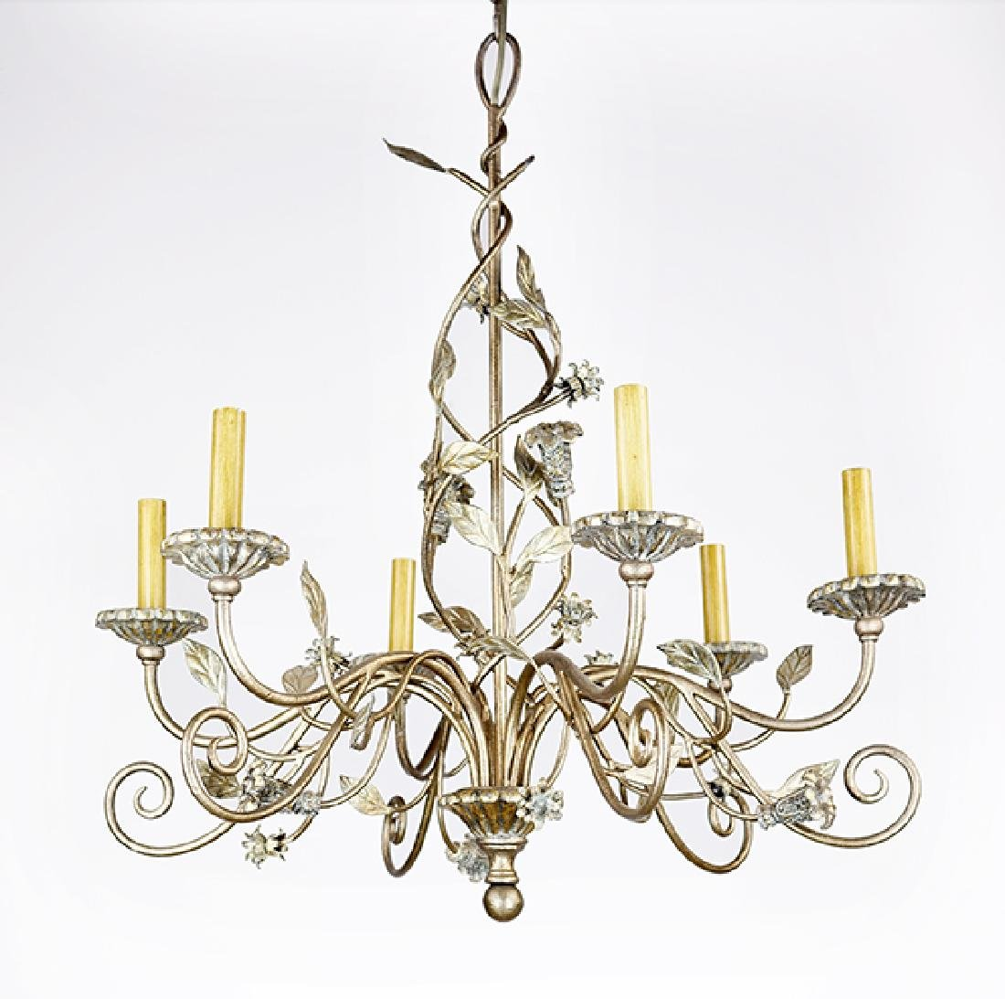 A Six-Light Chandelier.