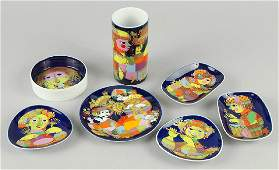 A Collection Of Bjorn Wiinblad For Rosenthal Porcelain.