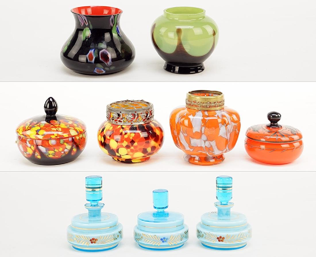 A Collection Of Czech Glass.