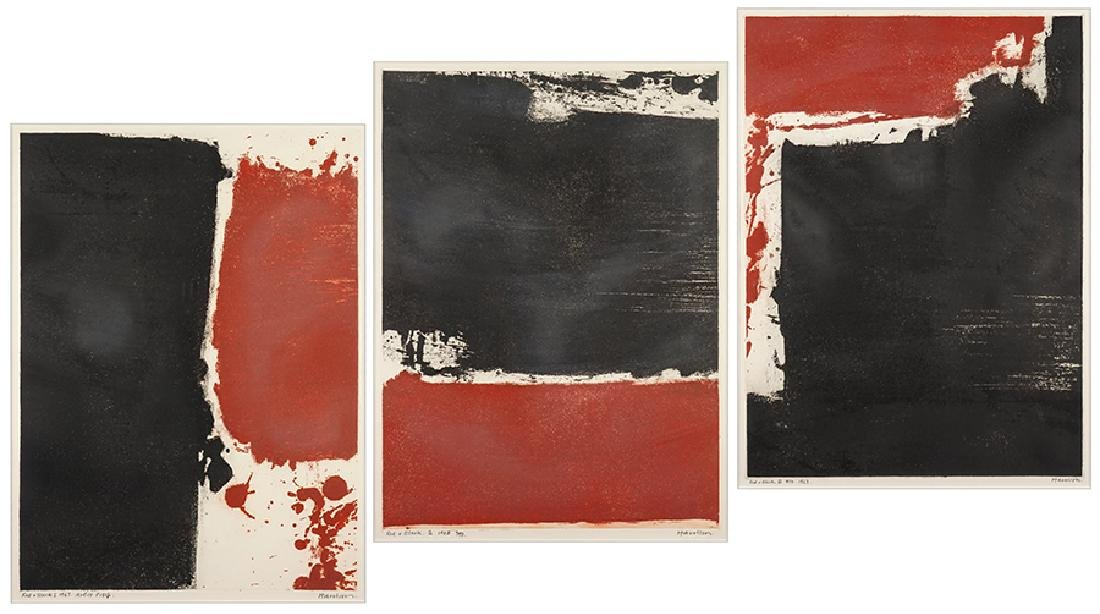 Harrison (20th Century) Red and Black I, II, and III.