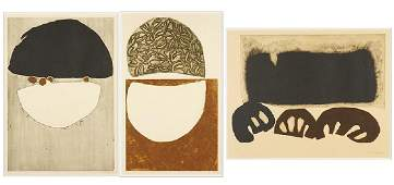 Artist Unknown (20th Century) Three Abstract Prints.