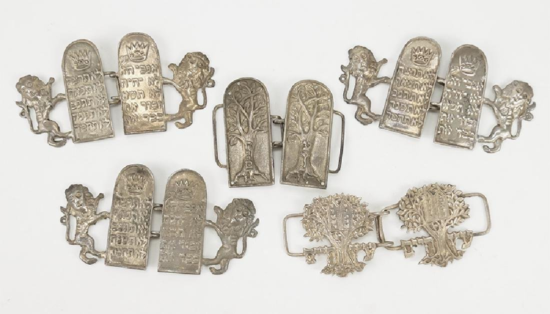 Five Israeli Sterling Silver Buckles.