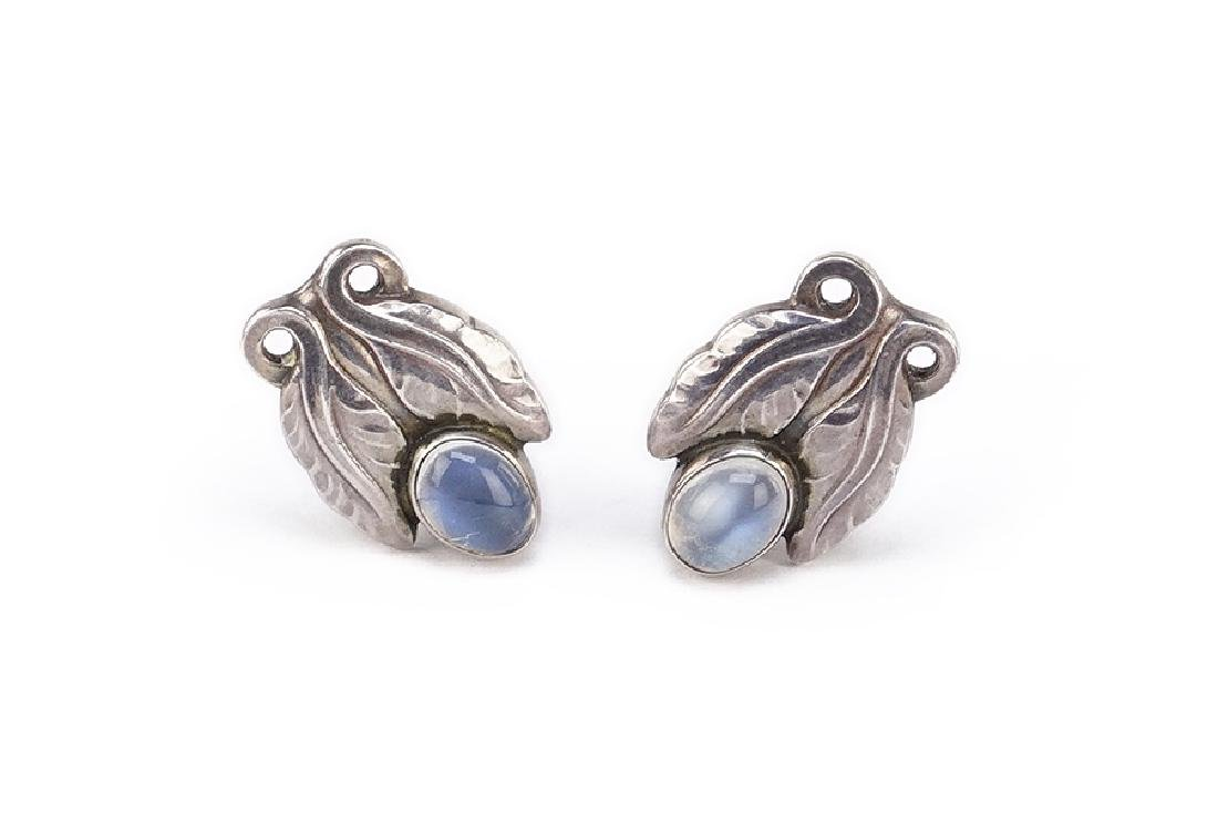 A Pair of Georg Jensen Earclips.
