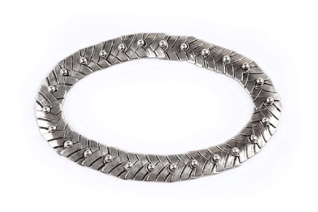 A Mexican Los Castillo Sterling Silver Necklace.
