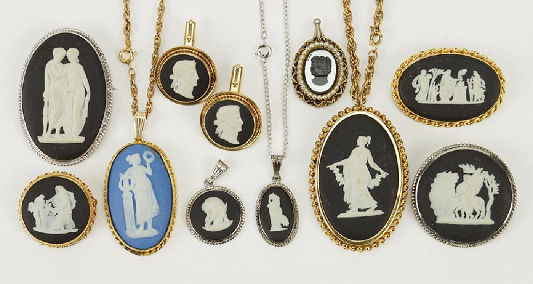 A Collection of Wedgwood Jasperware Jewelry.