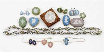 A Collection of Wedgwood Jasperware Jewelry