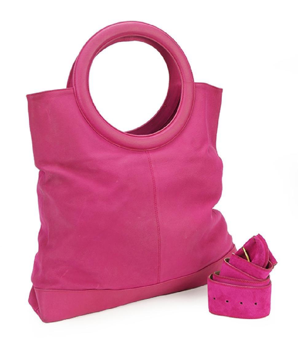 A Donna Karan Leather Handbag.