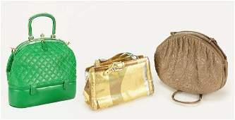 Three Judith Leiber Handbags.