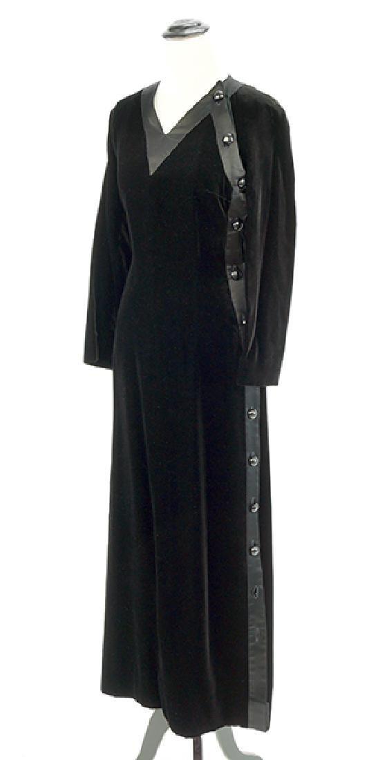 A Valentino Boutique Black Velvet Gown.