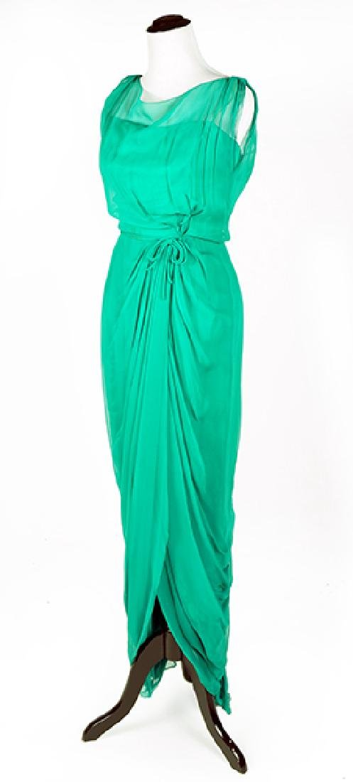 A Helen Rose Crepe Gown.