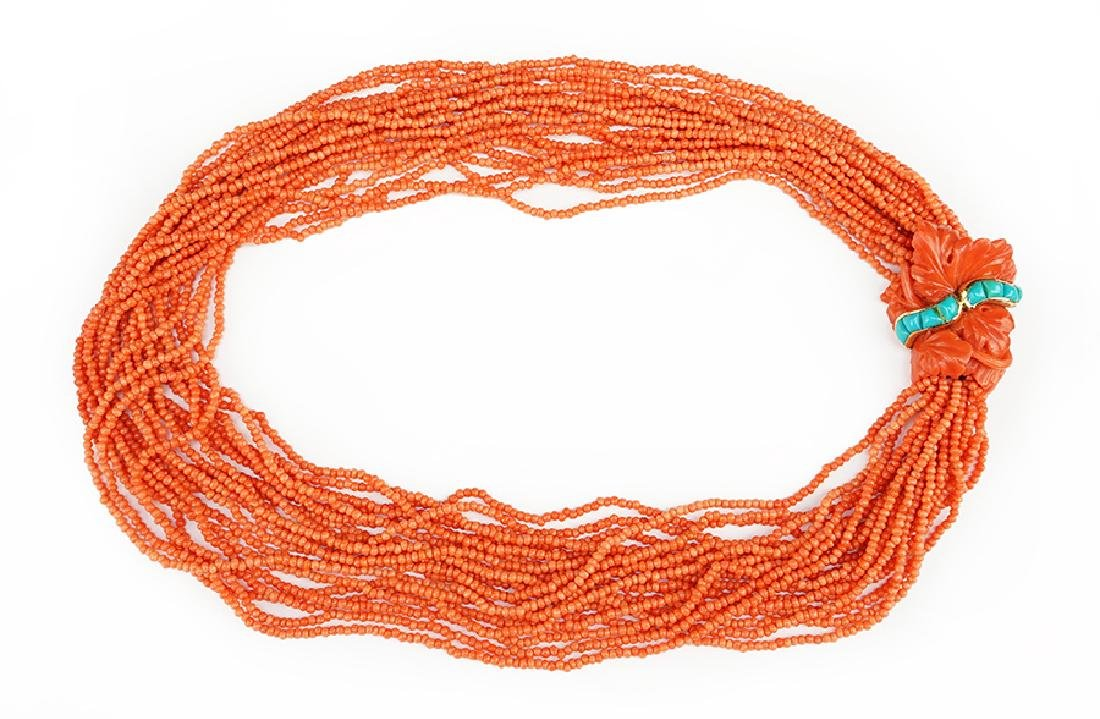 A Seaman Schepps Coral Necklace.