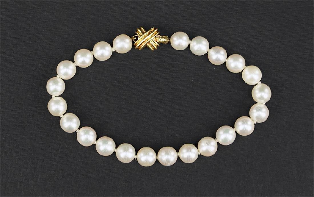 A Tiffany & Company Pearl Bracelet.