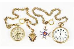 Two Goldfilled Masonic Watch Fobs.