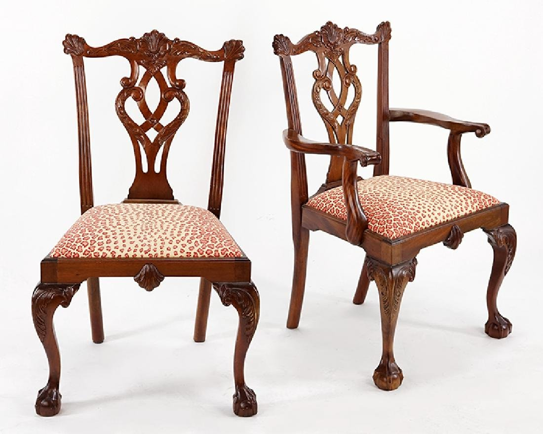 A Set of Eight Mahogany Dining Chairs.