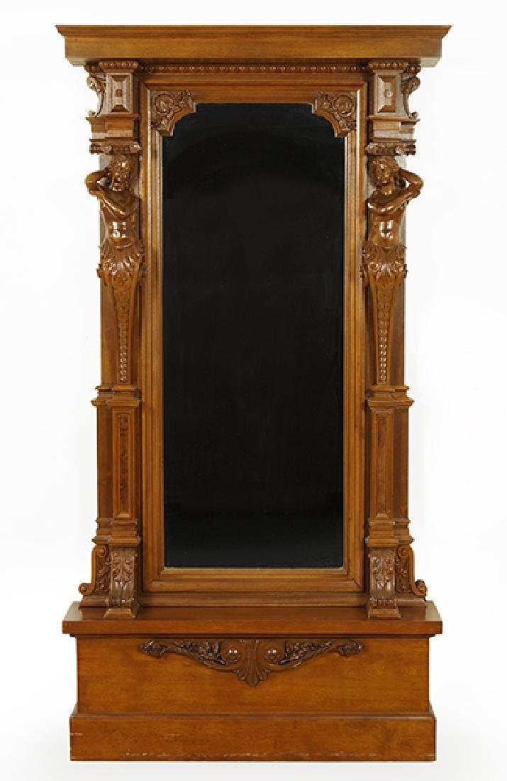 A Renaissance Revival Style Hall Mirror.