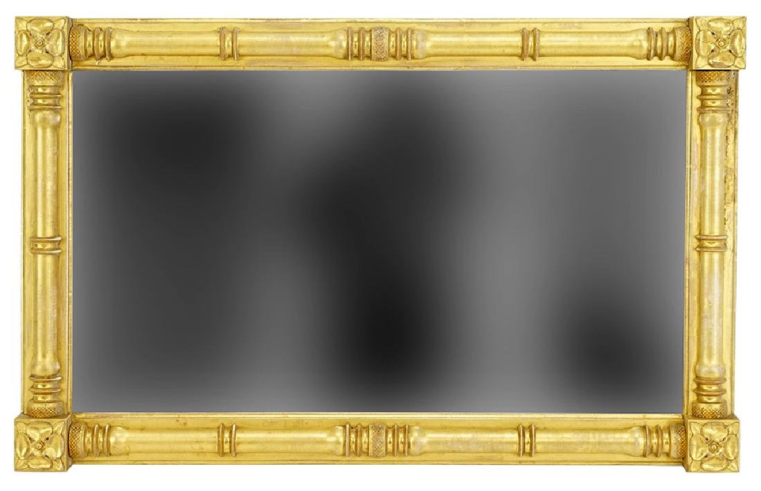 A Giltwood Over Mantle Mirror.
