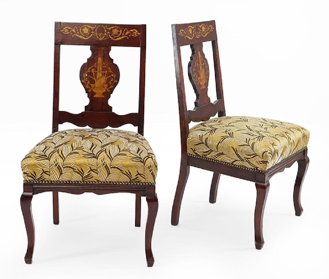 A Set of Four Dutch Side Chairs.