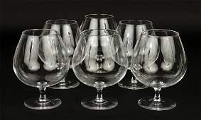A Set Of Six Steuben Crystal Brandy Snifters