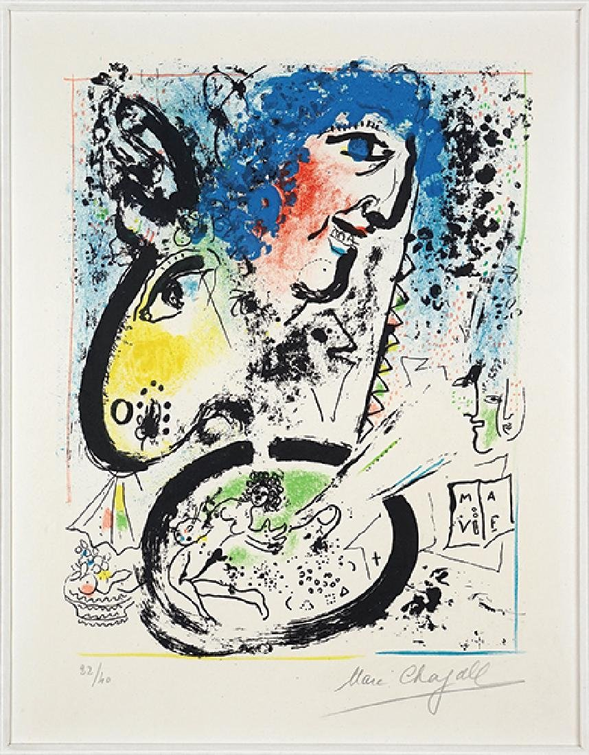 Marc Chagall (Russian/French, 1887-1985) Auto-Portrait.