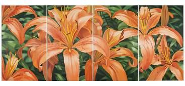 Winifred Godfrey (American, B. 1944) Lilies.