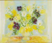 Le Pho (Vietnamese/French, 1907-2001) Fleurs.