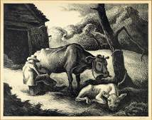 Thomas Hart Benton (American 1889-1975) White Calf.