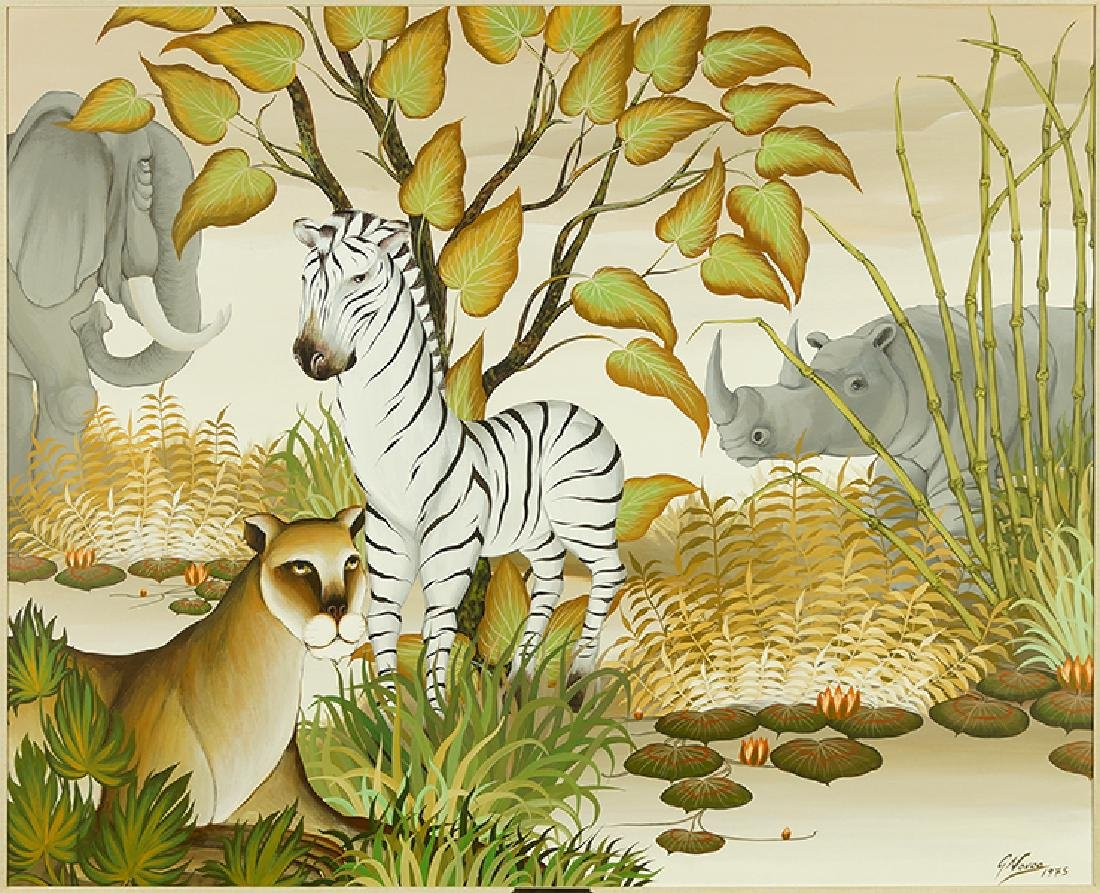 Gustavo Novoa (Chilean, B. 1940) The Jungle.
