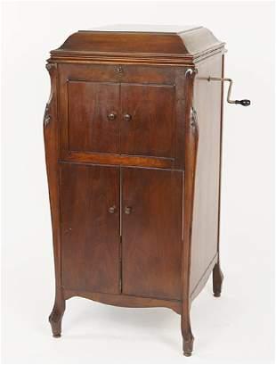 A Victrola Mahogany Case.