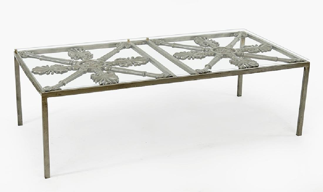 An Iron Cocktail Table.