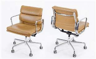 A Set Of Eight Eames 'Soft Pad' Chairs.