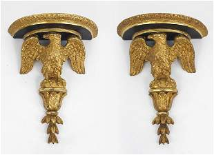 A Pair of George III Style Eagle-Form Wall Brackets.