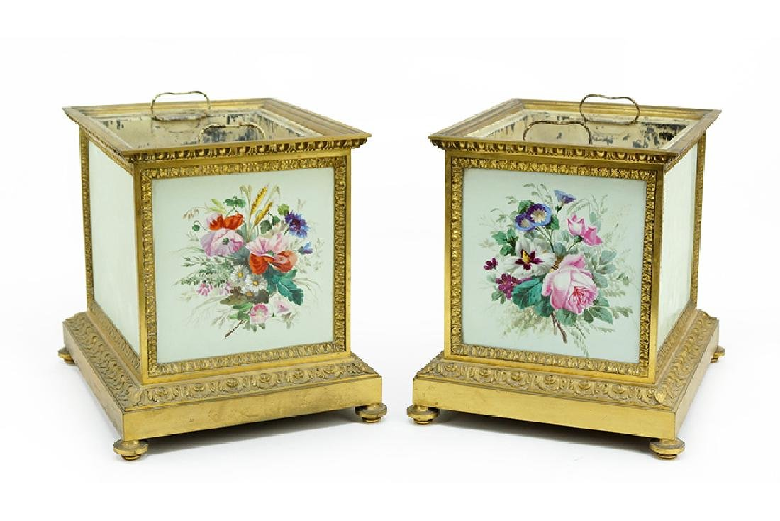 A Pair Of Continental Jardinieres.