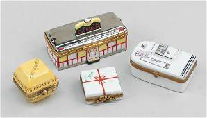 A Collection of Limoges Porcelain Boxes.