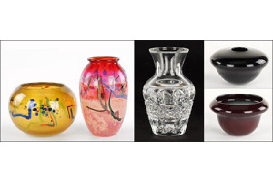 John macpherson colored glass vases two john macpherson colored glass vases reviewsmspy