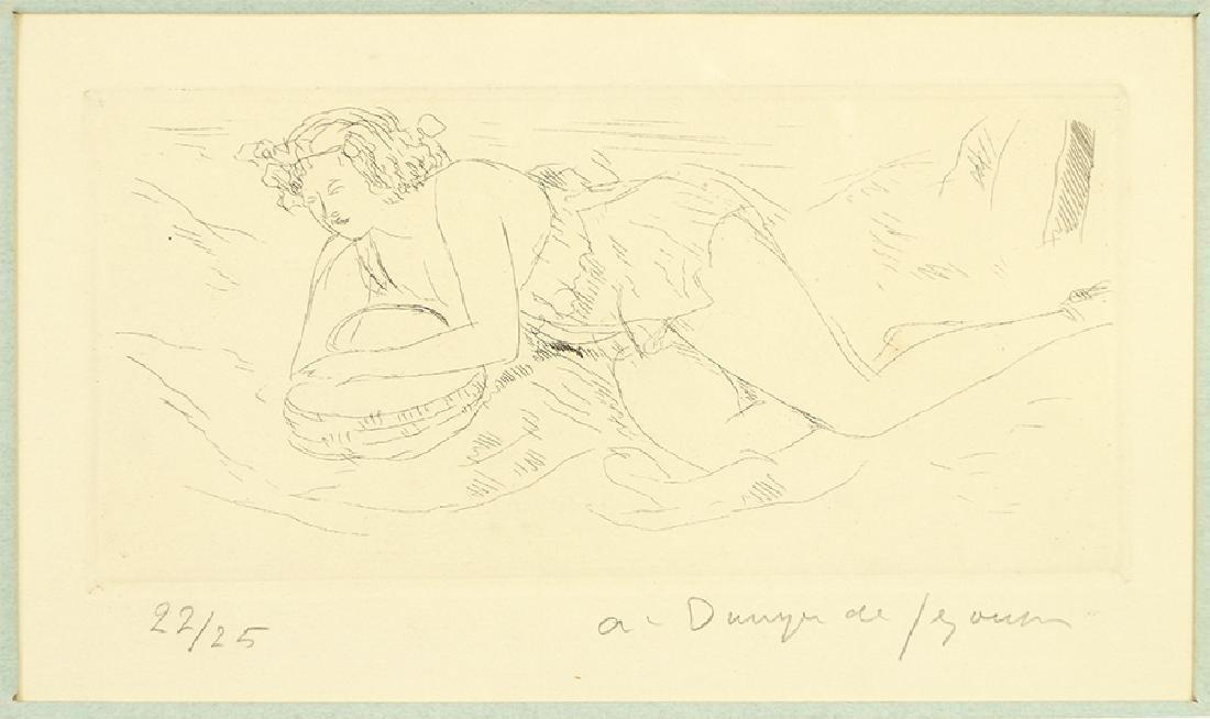 Andre Dunoyer de Segonzac (french, 1884-1974) Nu