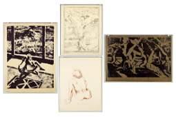 James McGarrell (American, B. 1930) Four Prints.