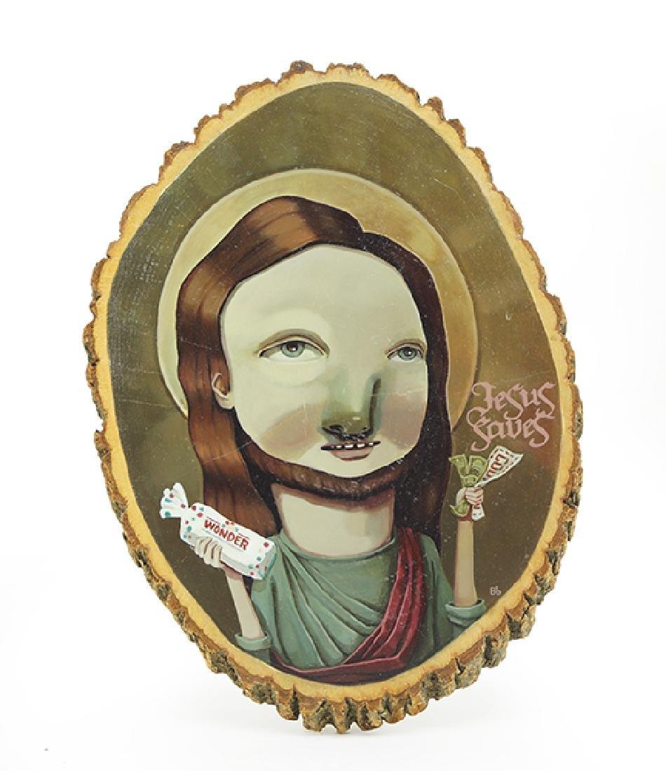 Beth Bojarski (American, Contemporary) Jesus Saves.
