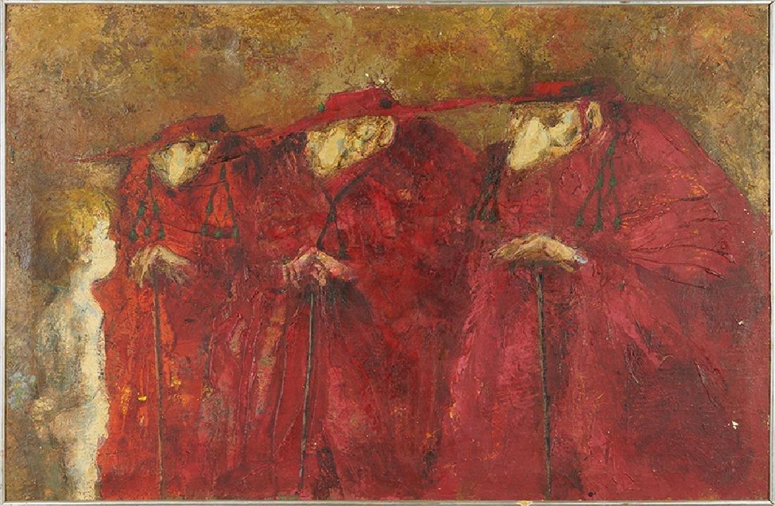 Fausto de Lima (Spanish, 1926-1994) Three Cardinals and