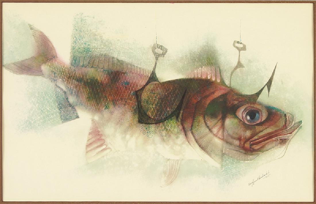 Siegfried Reinhardt (American, 1925-1984) Fish and