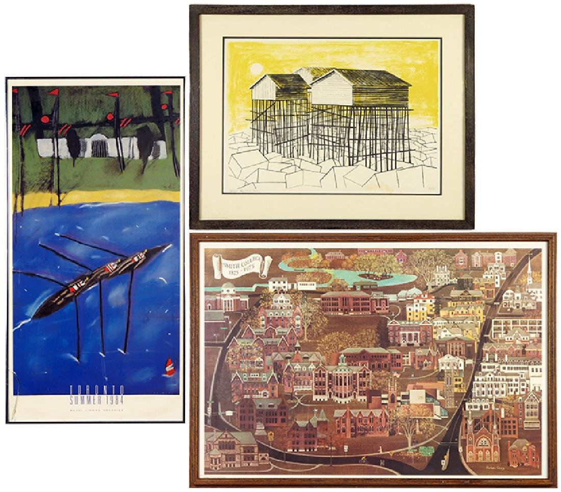 Sergio Agostini (American, B. 1921) Houses of Stilts.