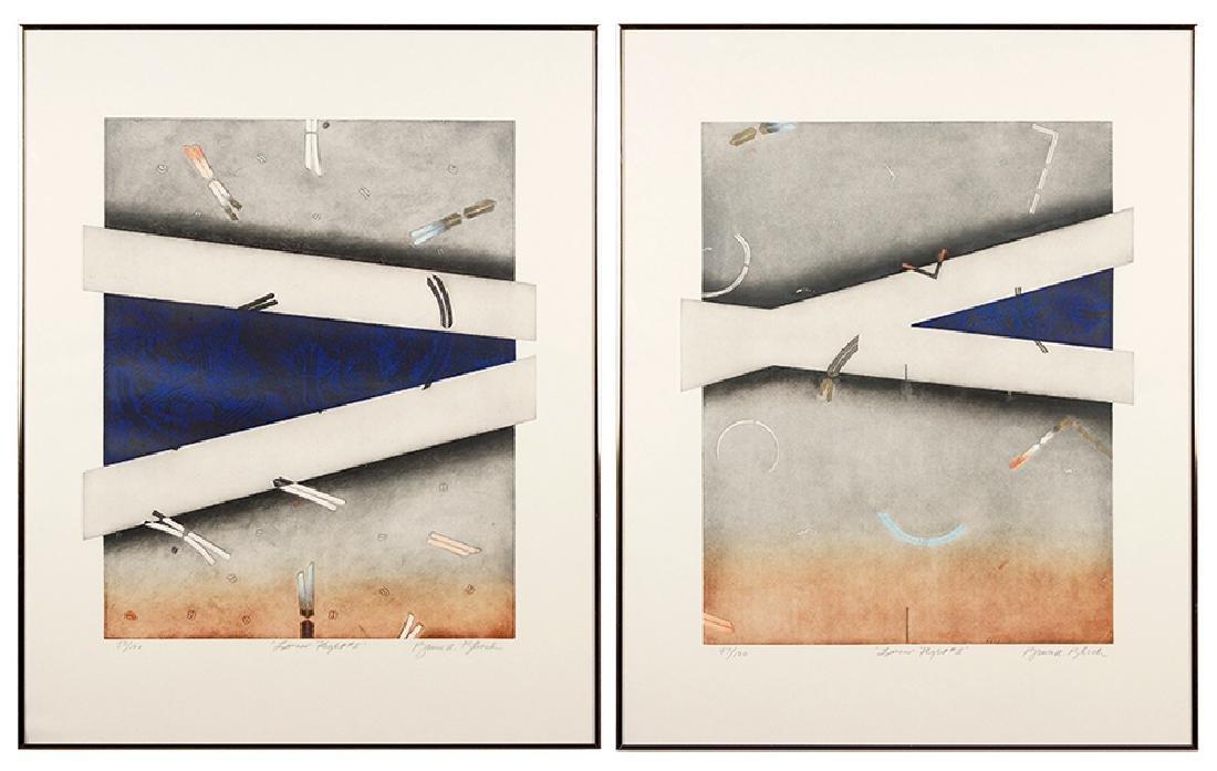 Bruce R. Bleach (American, B. 1950) Linear Flight #1