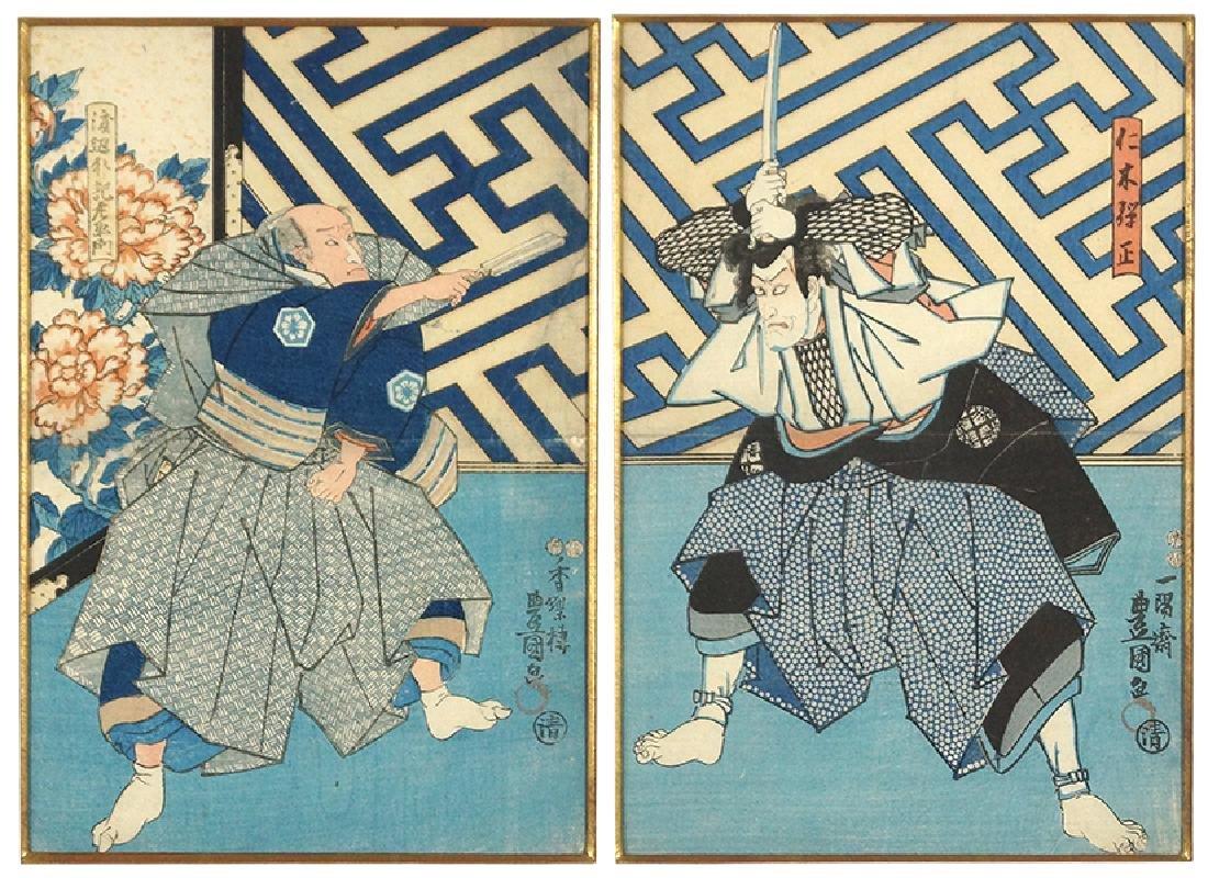 Toyokuni III Kunisada (Japanese, 1786-1865) Two Color