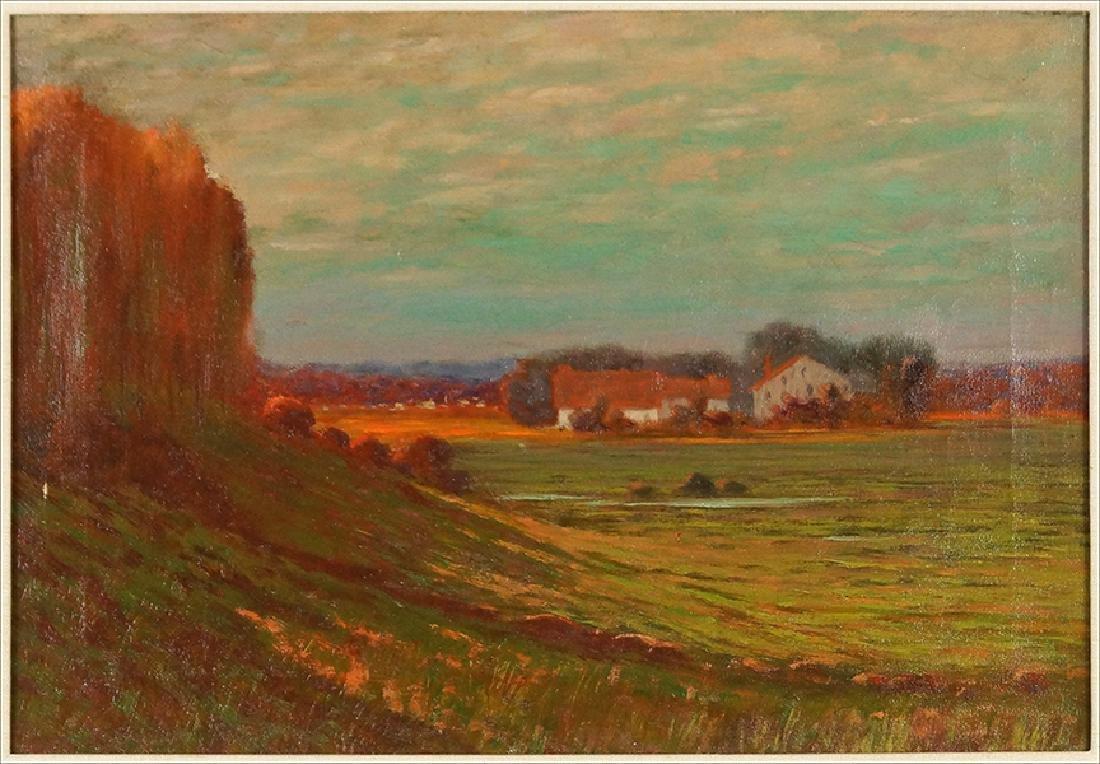A. Francis Wattson (American, 19th Century) Farm Scene.