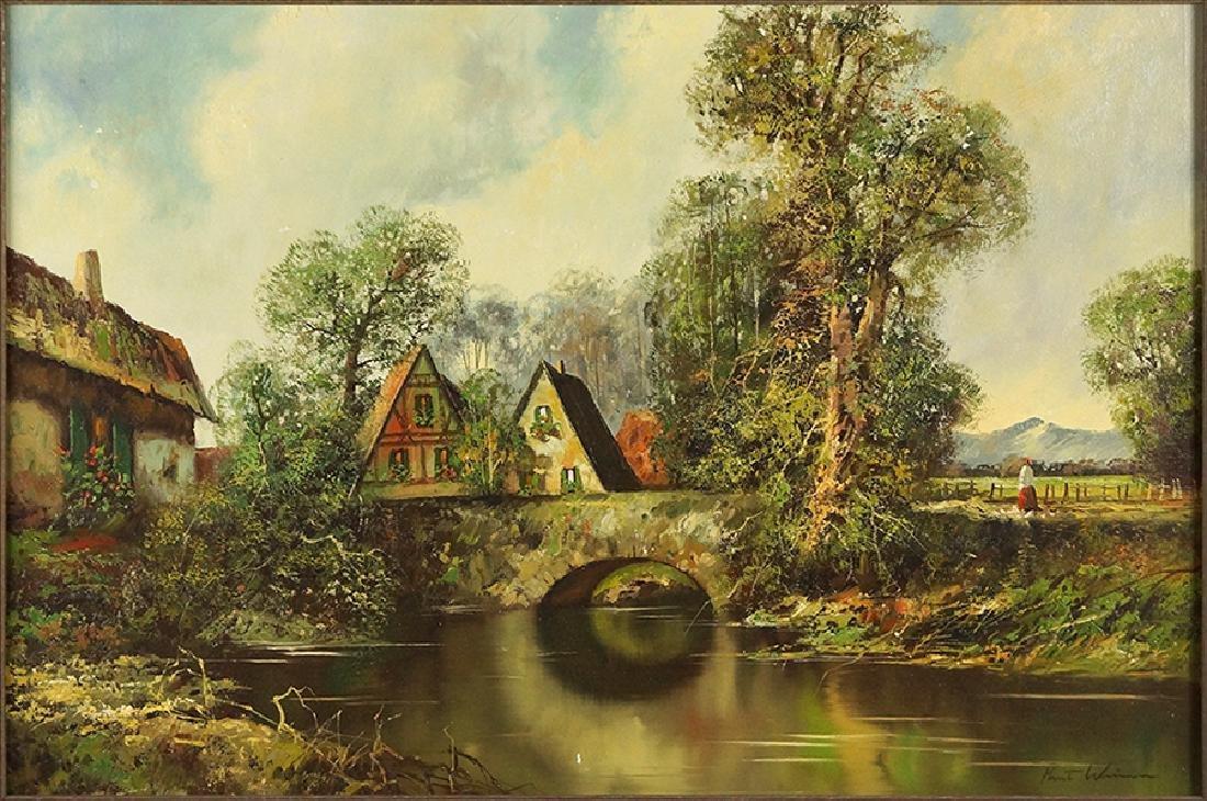 Kurt Weiner (American, Contemporary) German Village.