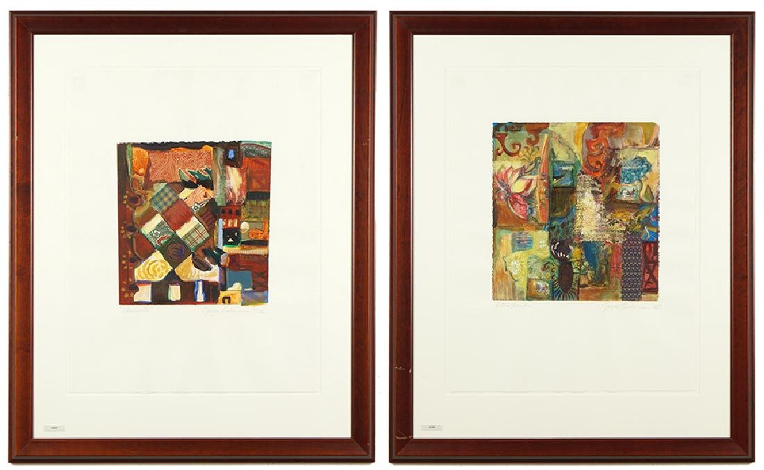 Joyce Lieberman (American, Contemporary) Two Works.