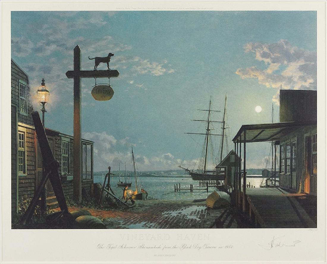 John Stobart (American, B. 1929) Vineyard Haven.