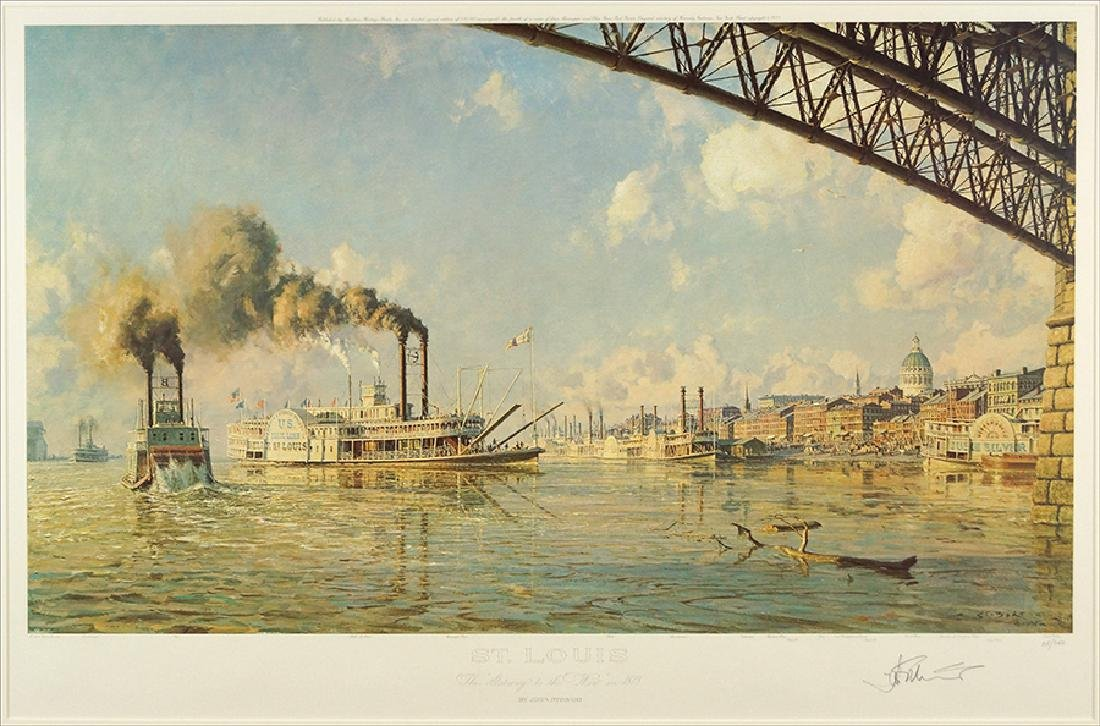 John Stobart (American, B. 1929) St. Louis.