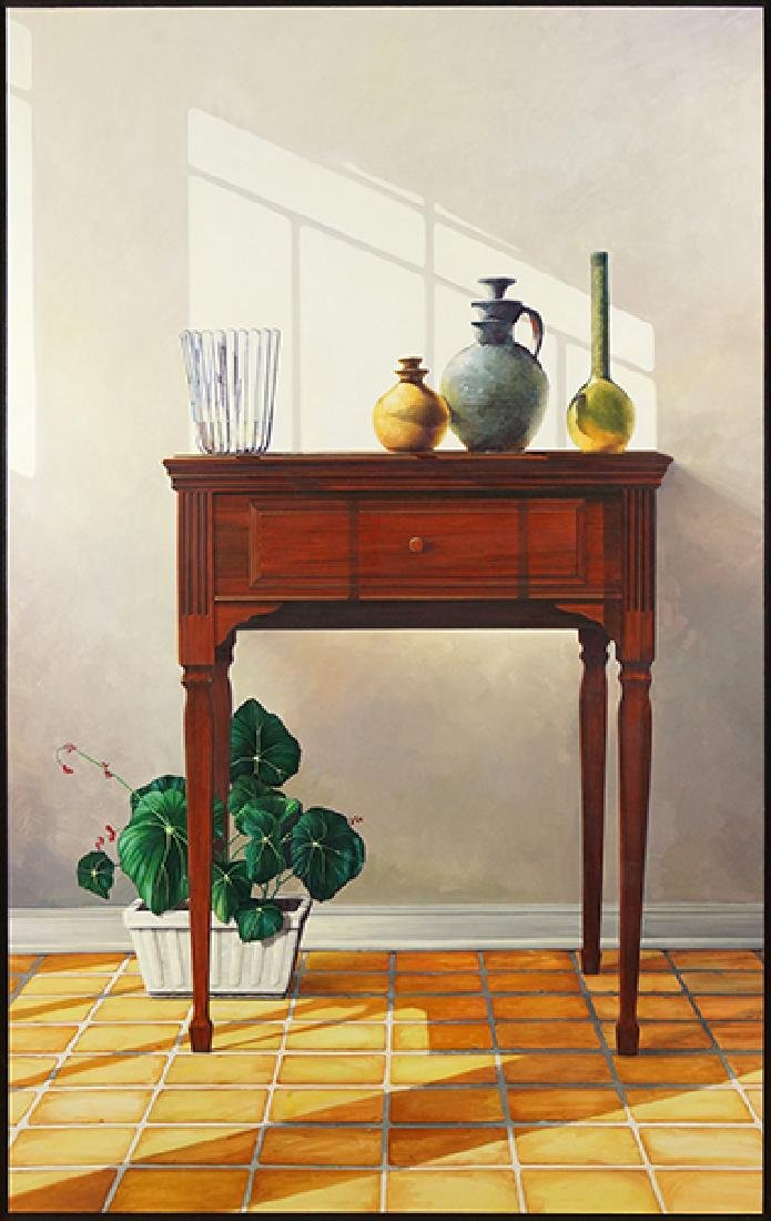 Gregory Johnson (American, B. 1955) Interior with Still